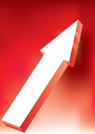 onward: Flecha de guardia & retaguardia de vector sobre fondo rojo - 3D Icon brillante  Vectores