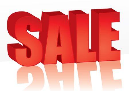 Gros mot rouge de vente, illustration