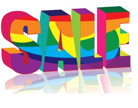 Big bright Sale word, illustration