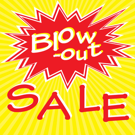 Retro poster with sale inscription, vector illustration
