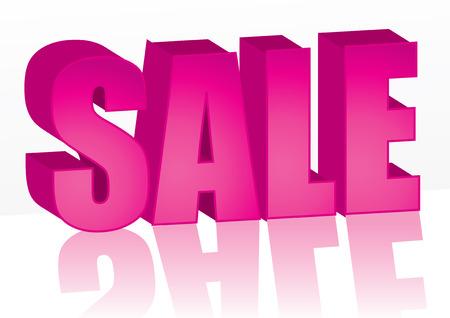 Big pink Sale word, vector illustration Stock Vector - 6660254