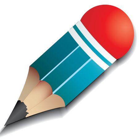 indelible: Little pencil, vector illustration Illustration
