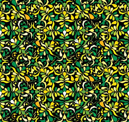 patten: Yellow and green seamless patten, vector illustation Stock Photo