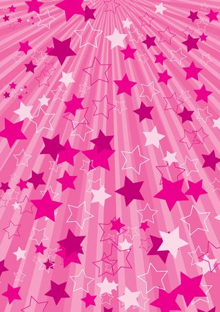 Pink abstract background with stars Foto de archivo