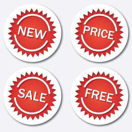 Red sale tags Stock Photo - 6782837
