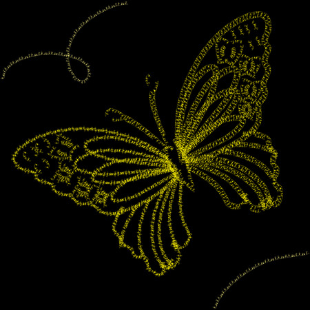 hollidays: Background with yellow butterfly,  illustration