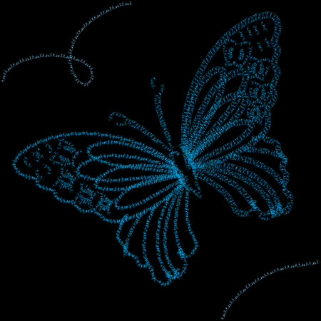 hollidays: Background with blue butterfly,  illustration