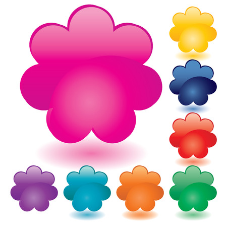Set of unusual multicolored buttons, part 3,  illustration Vector