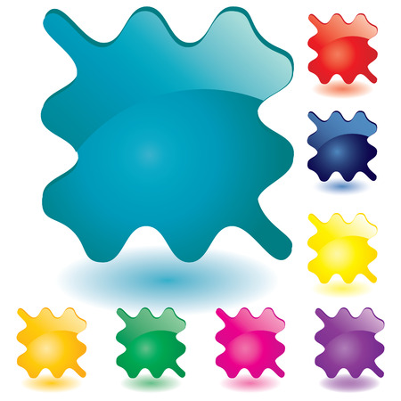 Set of unusual multicolored buttons, part 6, illustration Vector