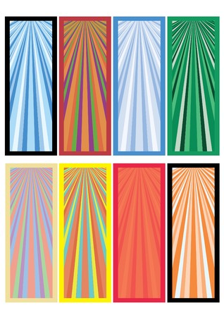 Ser of eight colored banners ready for your text, part 1,  illustration Stock Vector - 6978248
