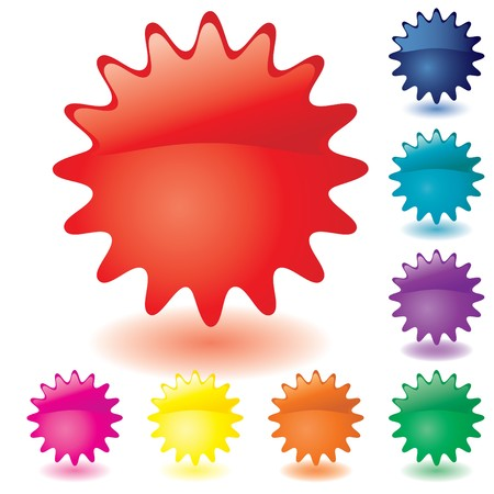 Set of unusual multicolored buttons, part 1,  illustration Vector