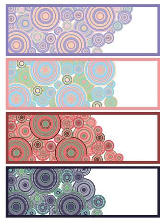 emo: Ser gekleurde banners klaar voor uw tekst, deel 11, afbeelding  Stock Illustratie