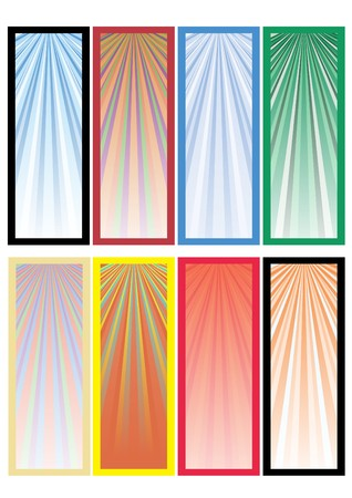 Ser of eight colored banners ready for your text, part 3,  illustration Stock Vector - 6978272
