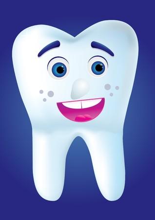 cartoom: Tooth-cartoom smile to you, illustration Illustration