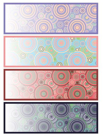 headliner: Set of 4 colored banners ready for your text, part 10, illustration eps 10.0 Stock Photo