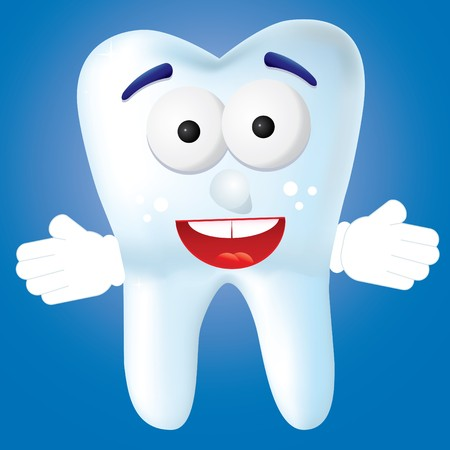 Tooth-cartoon smile to you,  illustration illustration