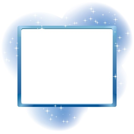 Frame for text on abstract fairy background, illustration