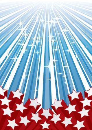 Background with elements of USA flag,  illustration