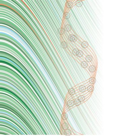 banding: Green background Illustration
