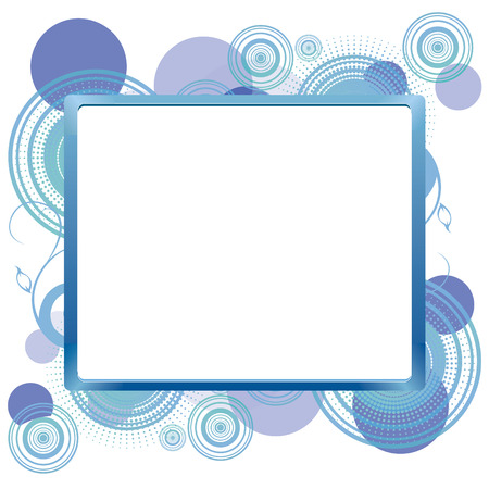 Frame for text on abstract background