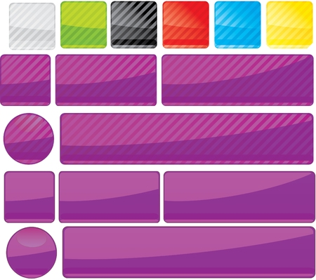 Set of unusual multicolored buttons Stock Vector - 7178136