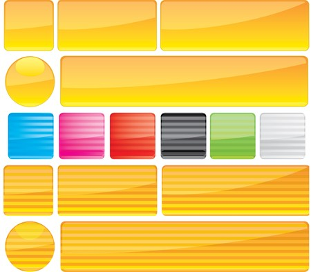 Set of unusual multicolored buttons. Vector