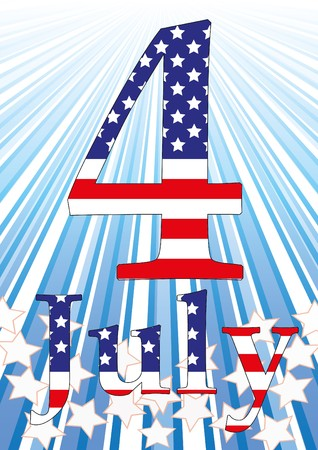 inaugural: Background with elements of USA flag. Illustration