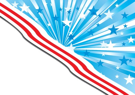 independance: Background with elements of American flag, with the place for your text, vector Illustration  Illustration