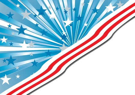 Background with elements of USA flag, vector illustration Vectores