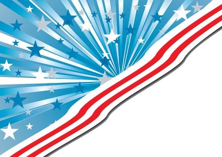 gewerkschaft: Hintergrund mit Elementen der USA Flagge, Vektor-illustration  Illustration