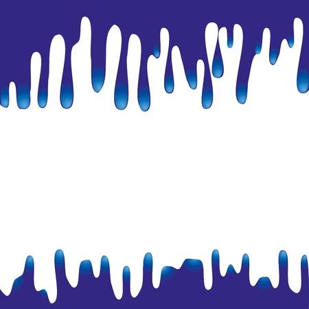 Blue paint druipend op en neer. Ruimte voor tekst, of een ontwerp-illustratie