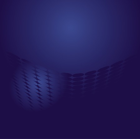 Blue abstract background with dots, illustration Vector