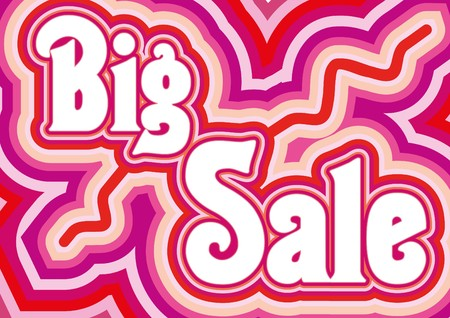 sellout: Big Sale inscription,  illustration