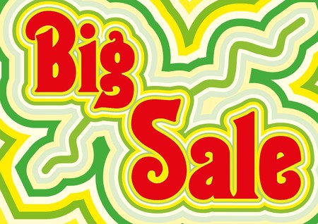 sellout: Big Sale retro title, illustration Illustration