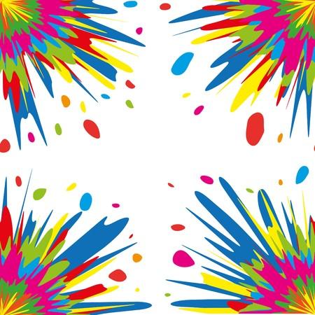 yellow fleece: Colorful seamless splash  pattern on white background, illustration Illustration