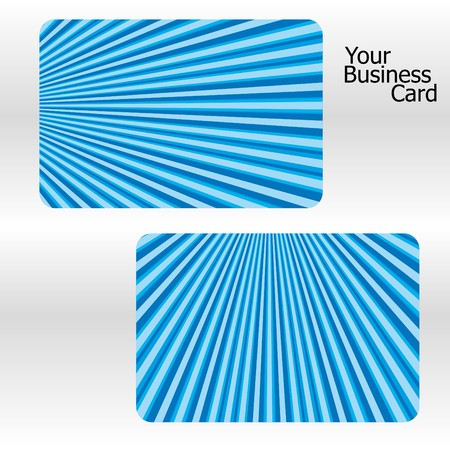 Set of blue stripped business cards. Stock Vector - 7354010