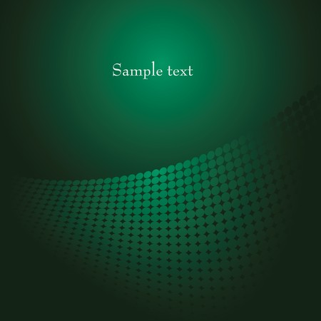 Green abstract background with dots. Vector