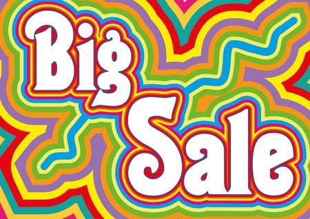 sell out: Big Sale retro title, vector illustration