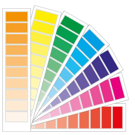 color guide: Color guide chart, cmyk rainbow background, part 3, illustration Illustration