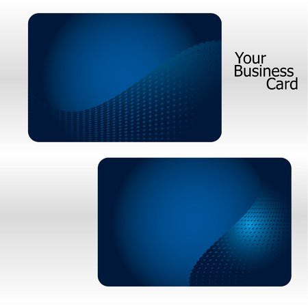Set of blue business card Stock Vector - 7646475