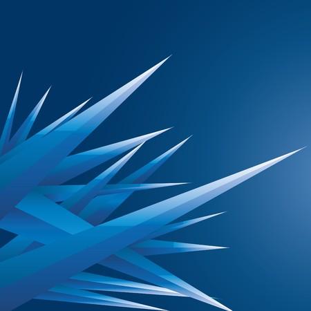prickles: Sfondo astratto con cristalli futuristici blu, illustrazione