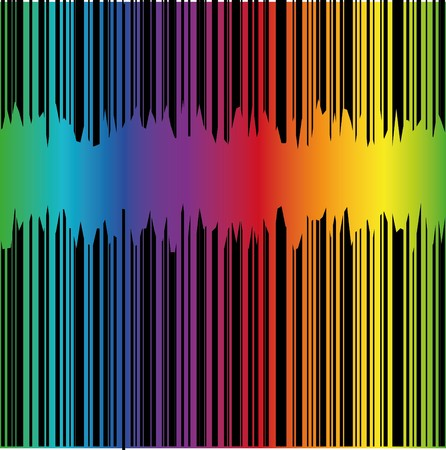 cretive: Abstract background with rainbow and place for text,  illustration