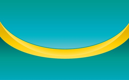 Simple abstract blue background with yellow ribbon,  illustration Vector