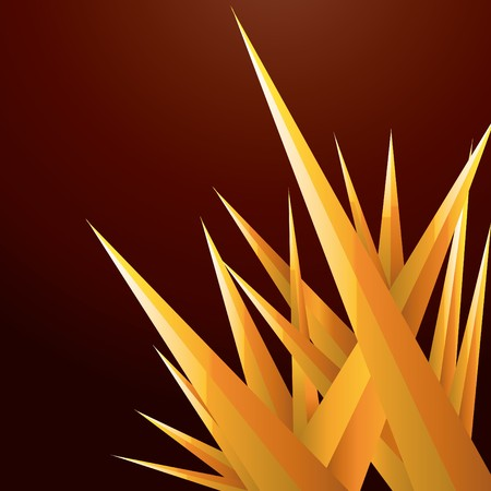 Abstract background with gold futuristic crystals,  illustration Vector