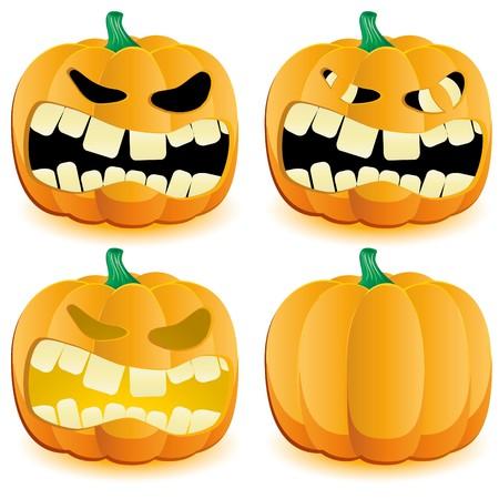 Halloween pumpkin with various lighting, part 4 illustration Vector