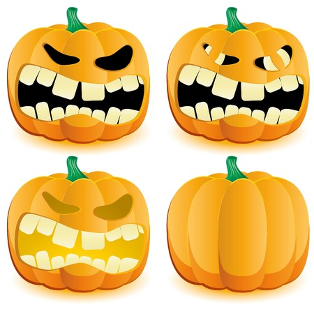 Halloween pumpkin with various lighting, part 4 illustration Vector