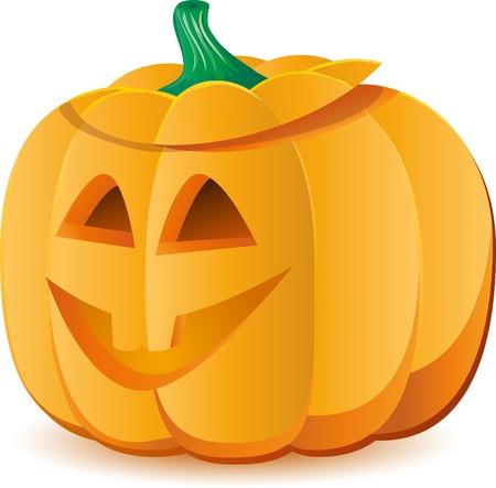 Halloween pumpkin as Jack O`Lantern  Vector