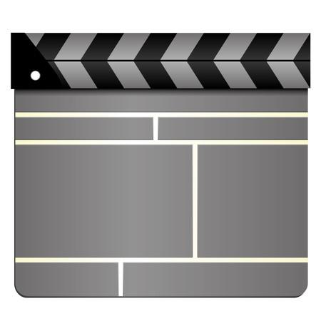 movie clapper: Clapboard grigio cinema, film Batacchio pensione, chiuso
