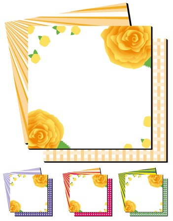 Set of abstract colorful backgrounds with orange roses,  illustration Vector