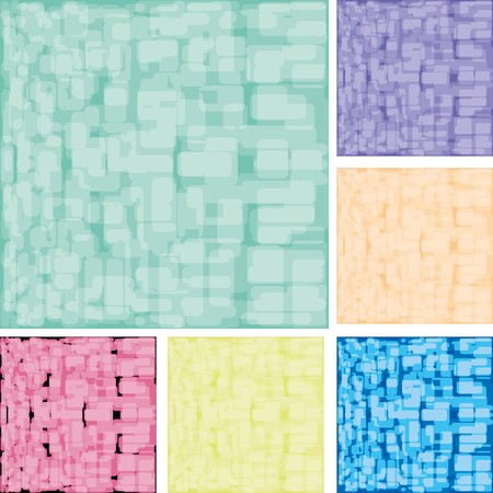 slur: Set of abstract colorful spotted backgrounds,  illustration